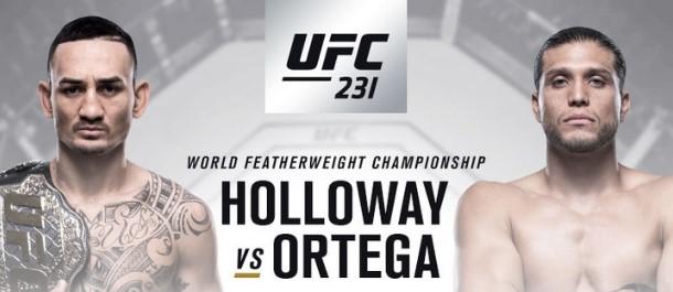 UFC 231 Holloway vs. Ortega